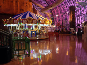 MGM Resorts Adventuredome floors coated with SlipShield to improve dynamic coefficient of friction, durability and cleanability.